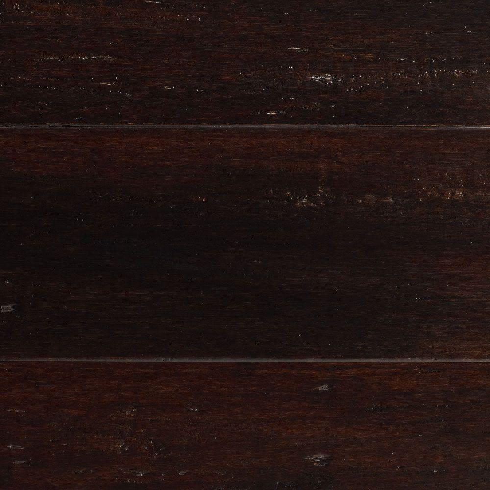 Home Decorators Collection Handscraped Strand Woven Warm Espresso 3 8 In X 5 1 8 In X 36 In