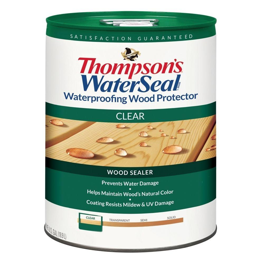Thompson's WaterSeal 5 gal. Clear Waterproofing Wood Protector