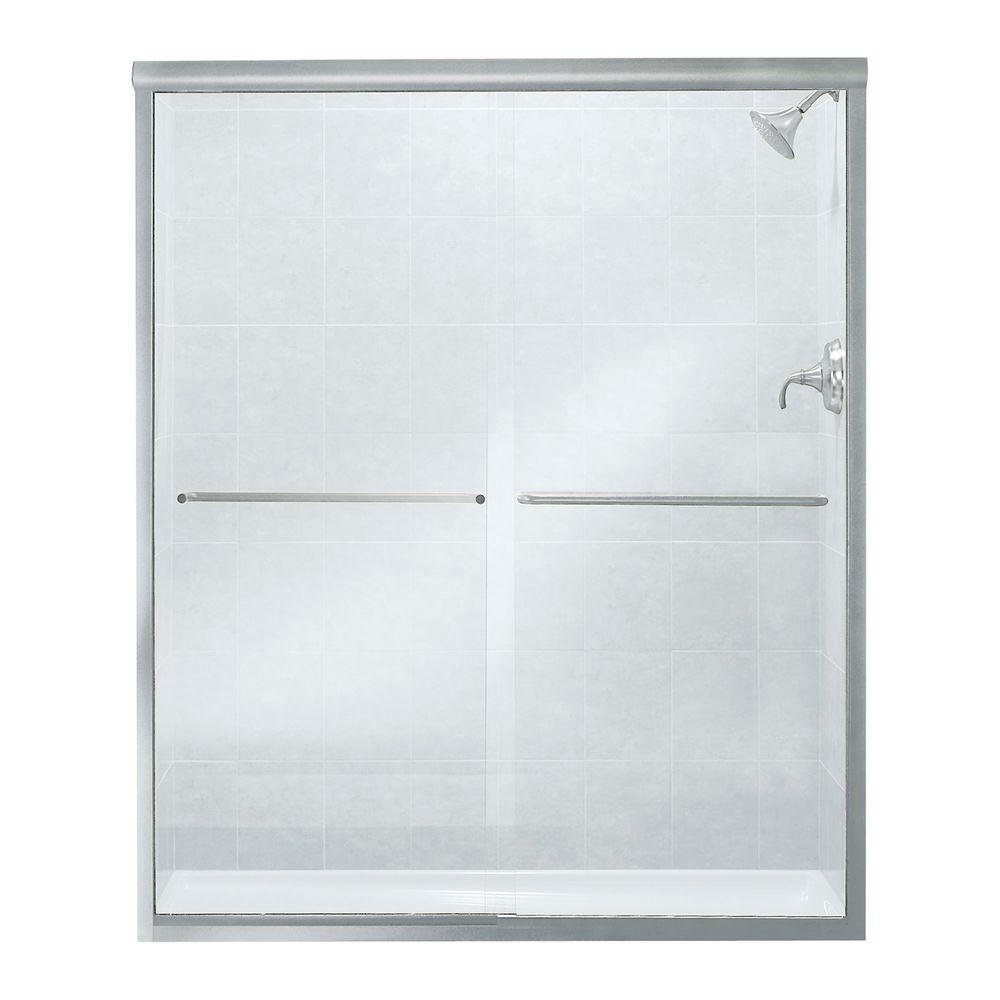 STERLING Finesse 59-5/8 in. x 70-1/16 in. Frameless Sliding Shower ...