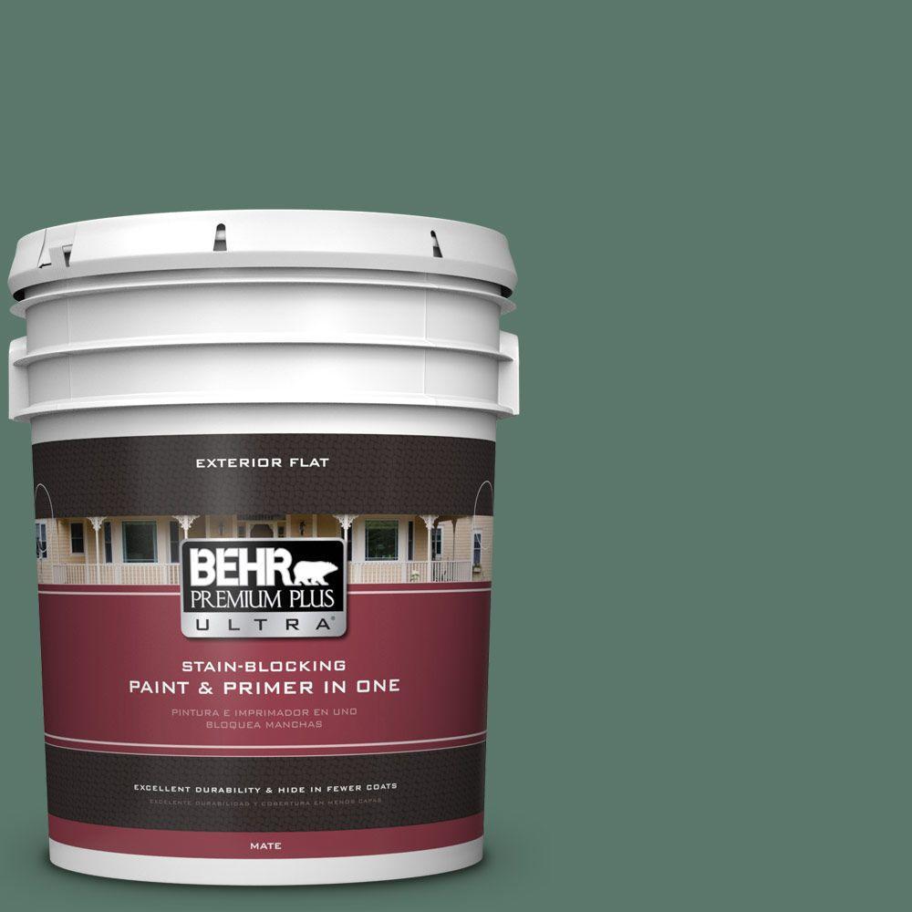 BEHR Premium Plus Ultra 5-gal. #S420-6 Pine Brook Flat Exterior Paint