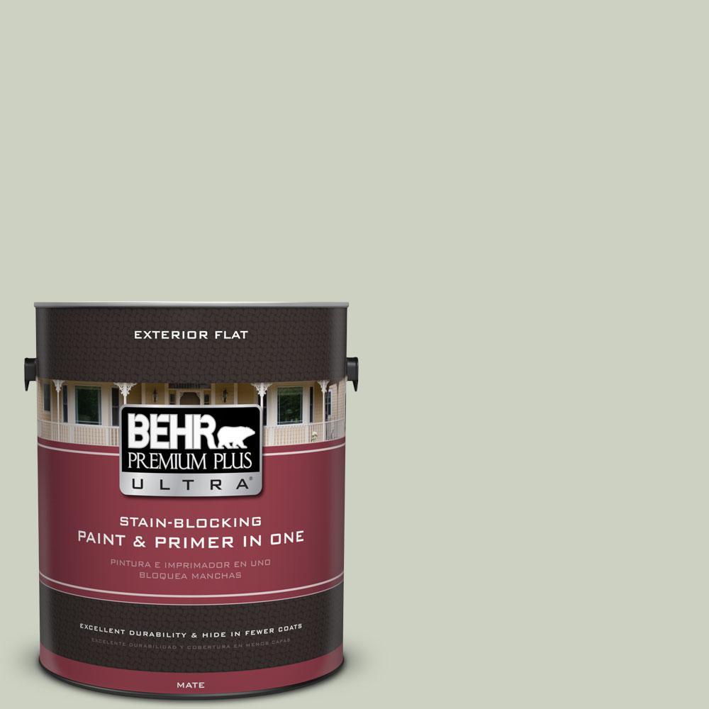 BEHR Premium Plus Ultra 1-gal. #PPU10-11 Sliced Cucumber Flat Exterior Paint