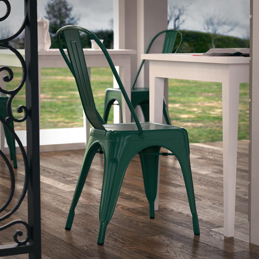 Trattoria Dark Green Side Chair (Set of 4)