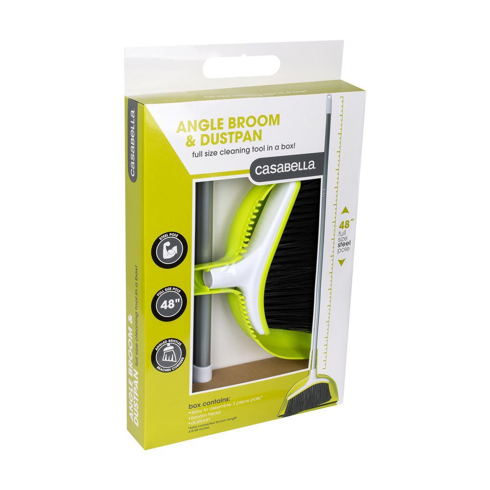 Angle Broom with Dust Pan