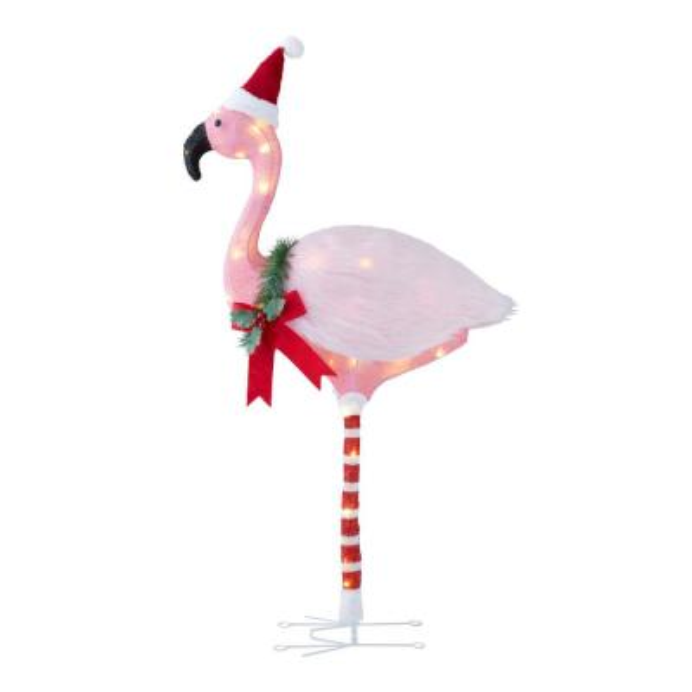 3.5 ft Warm White 50-Light LED Flamingo