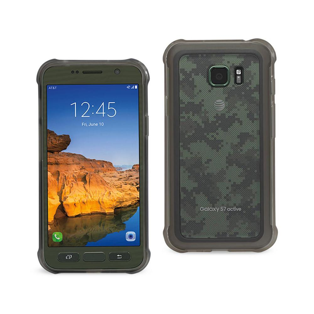Galaxy S7 Active Air Cushion Case in Clear Black