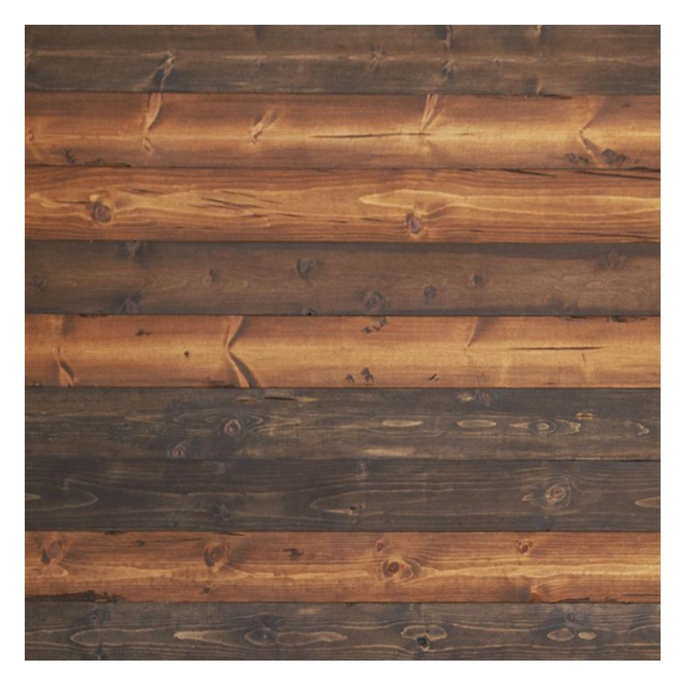 "Timeline Skinnies Timeline Wood 11/32 in. x 5.5 in. x 47.5 in.  The ""Mix"" Brown  Wood Panels (6-Pack)"
