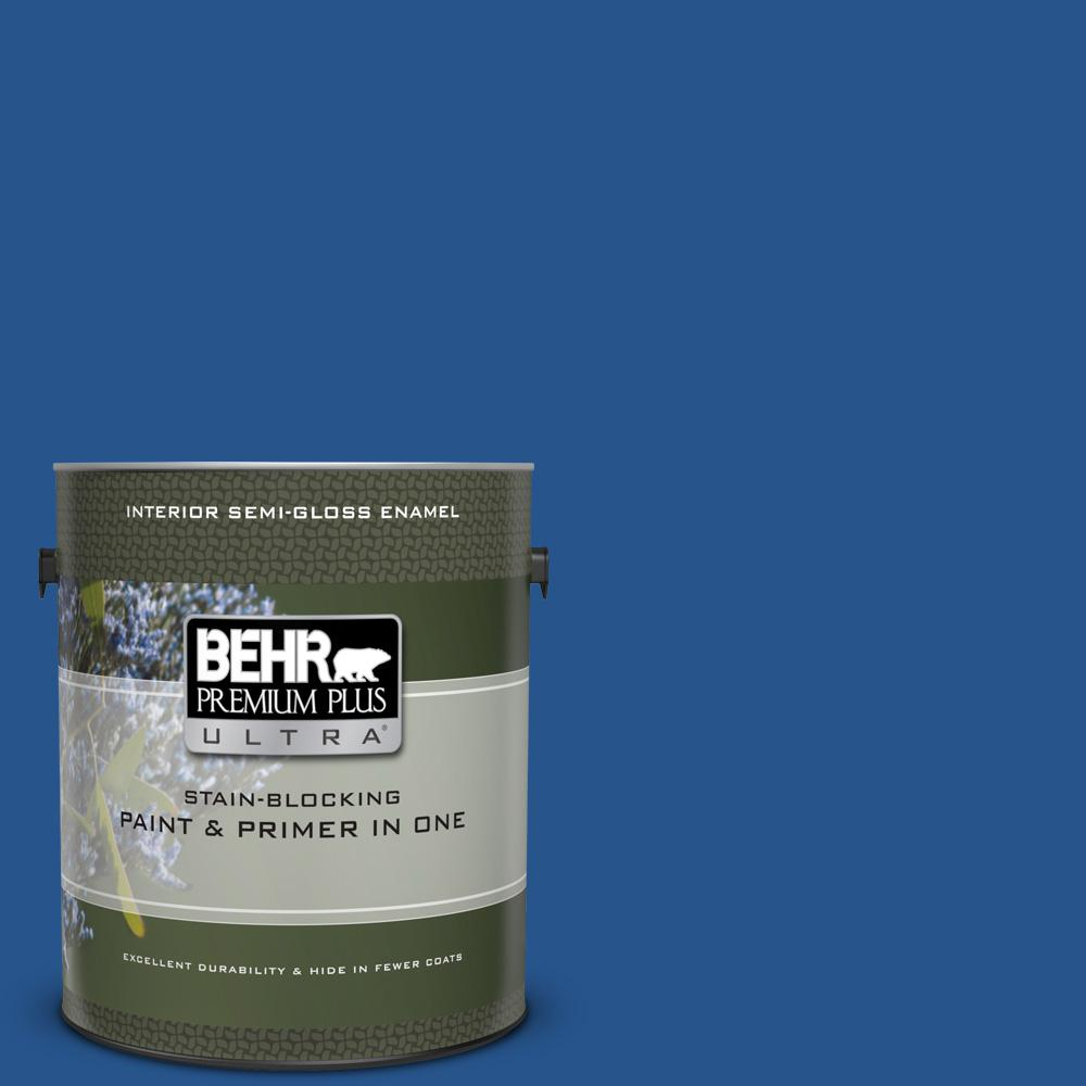 Ppu15 03 Dark Cobalt Blue Semi Gloss Enamel Interior Paint And Primer In One