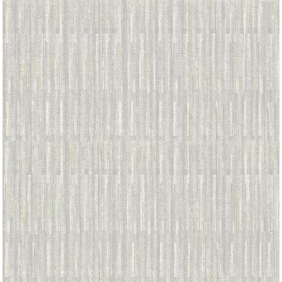 Brixton Light Grey Texture Light Grey Paper Strippable Roll (Covers 56.4 sq. ft.)