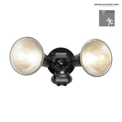 110-Degree Black Motion Activated Sensor Outdoor Security Flood Light