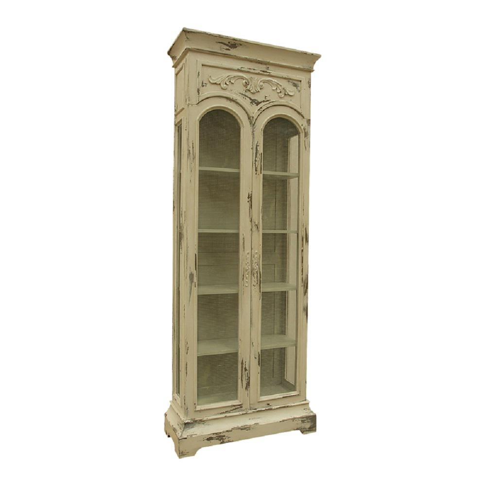 Titan Lighting Victorian Mahogany Cream China Cabinet-TN-892786 ...