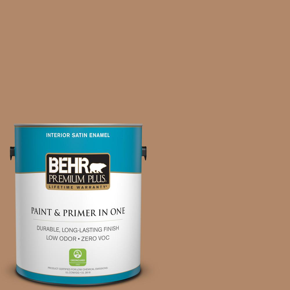 1 gal. #MQ2-2 Syrup Satin Enamel Zero VOC Interior Paint and