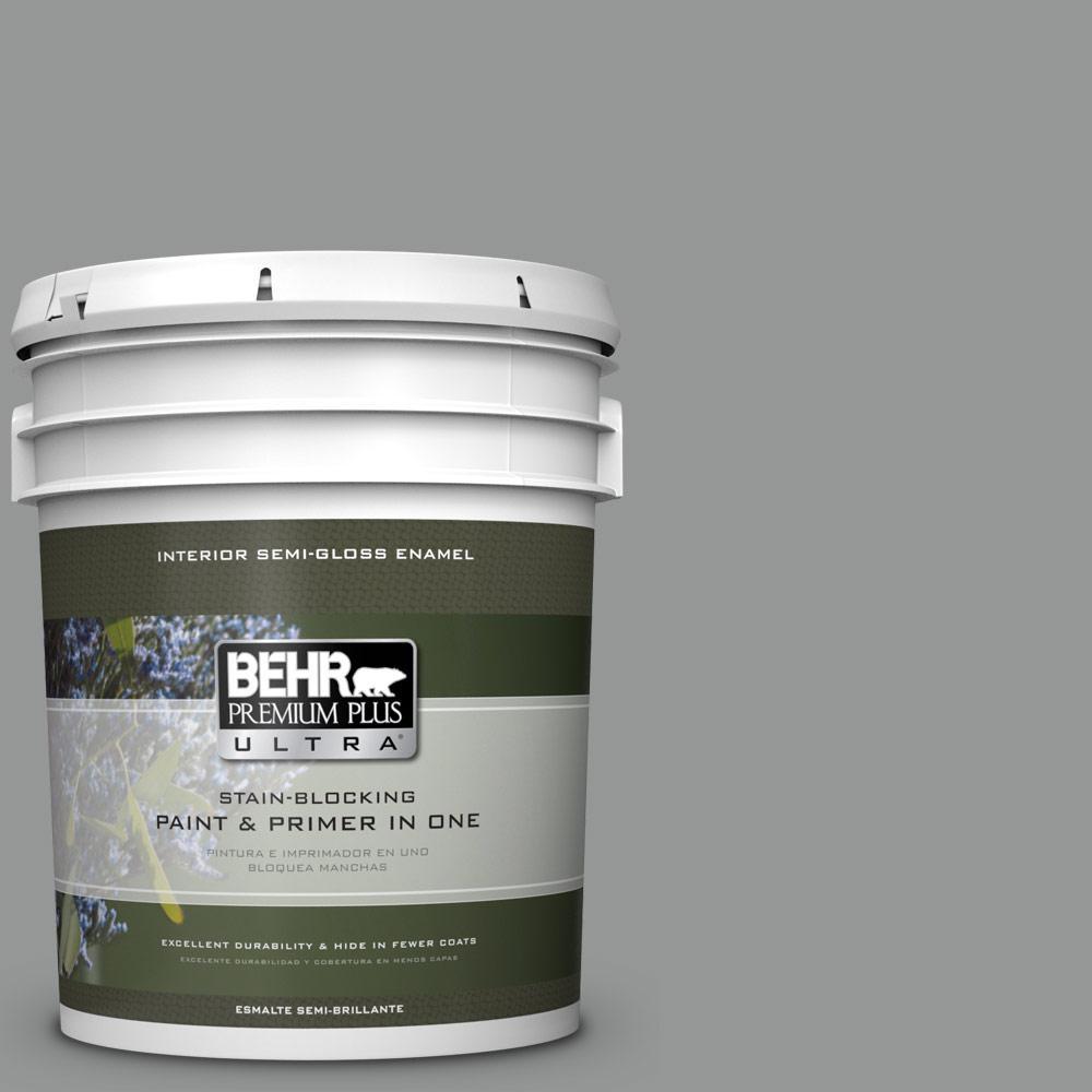 5 gal. #PPU24-19 Shark Fin Semi-Gloss Enamel Interior Paint