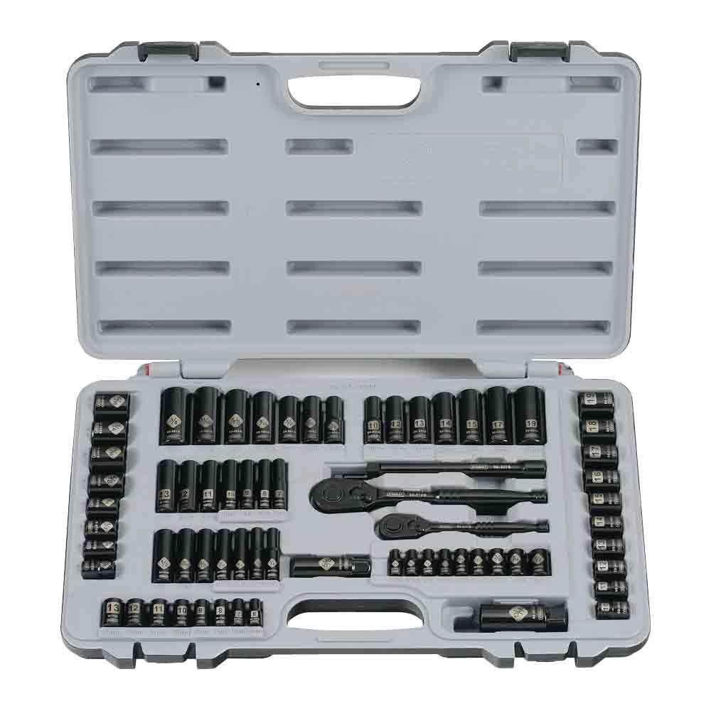 Stanley Black Chrome Socket Set (69-Piece)