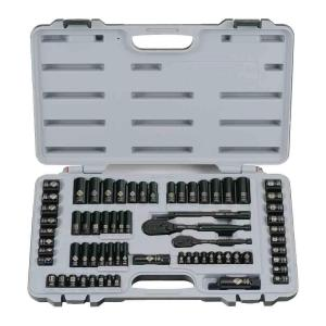Stanley Black Chrome Socket Set (69-Piece) by Stanley