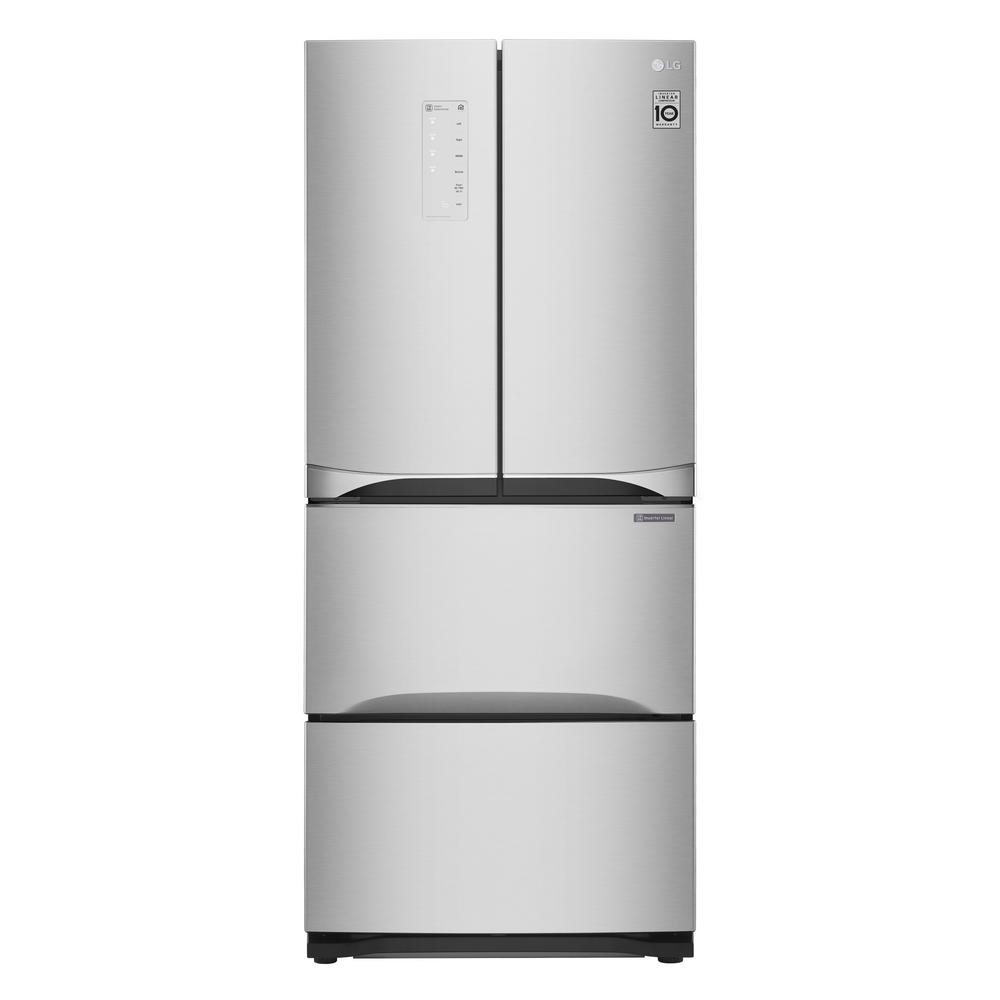 LG Electronics 14.3 cu. ft. Kimchi/Specialty Food French Door Refrigerator in Platinum Silver If your tastes run to international flavors and specialty food or wine with specific temperature and storage requirements, then the LG Kimchi and Specialty Food refrigerator may be just what youre looking for. Designed for precise cooling performance, this refrigerator delivers compartmental control over air temperature and humidity to seal in flavors and aromas. With a forced-air circulation system that directs cold air around the customized, airtight storage containers, its perfect for preserving foods. Color: Platinum Silver.
