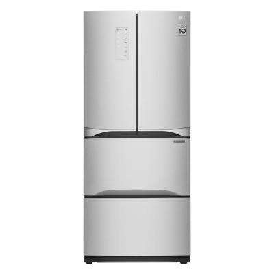 14.3 cu. ft. Kimchi/Specialty Food French Door Refrigerator in Platinum Silver