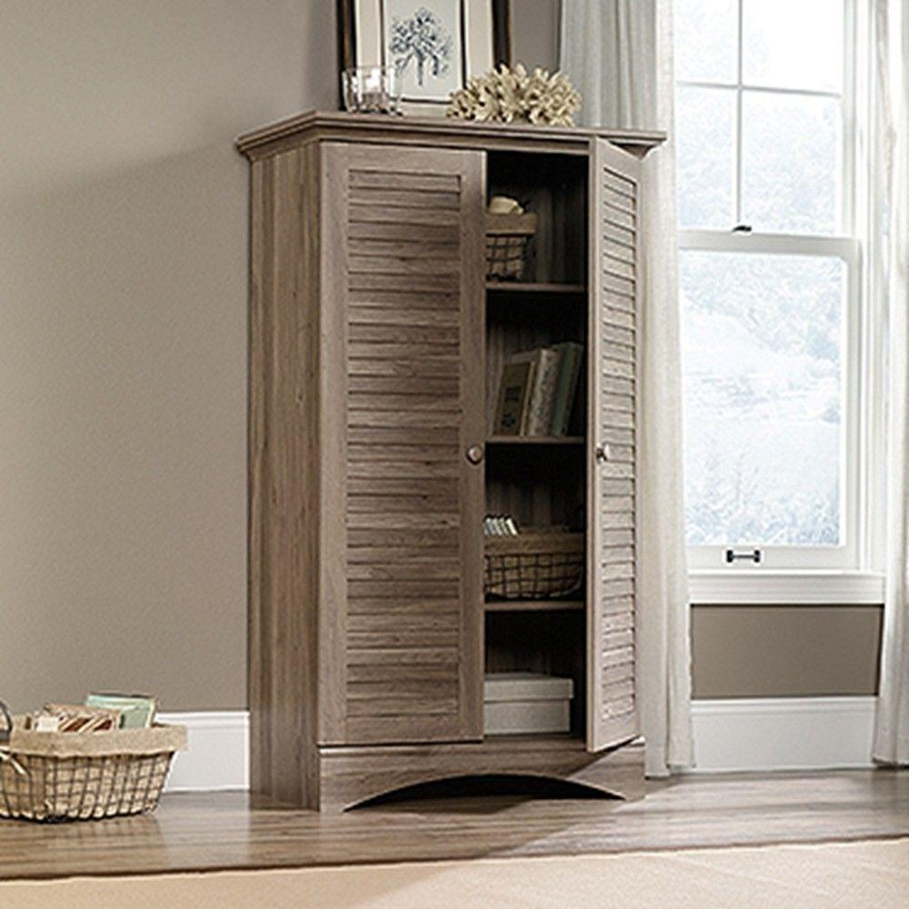 sauder cabinet with doors sauder harbor view antiqued storage cabinet 416825 the 25857