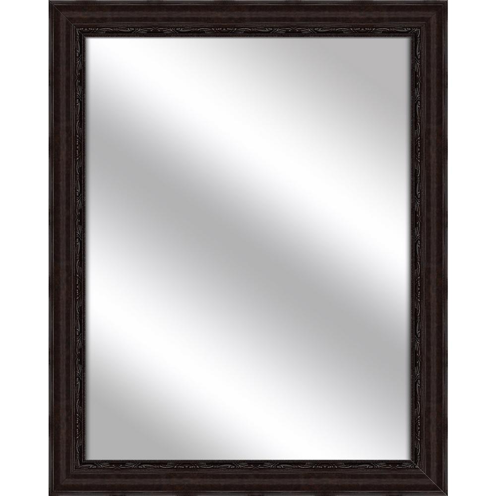 32.375 in. x 26.375 in. Dark Bronze Framed Mirror