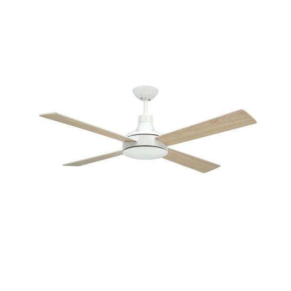 Quantum II 52 in. Pure White Ceiling Fan with Remote Control
