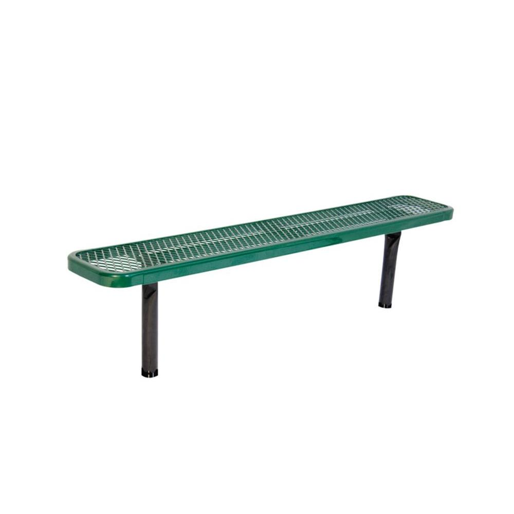 Ultra Play 6 ft. Diamond Green In-Ground Commercial Park Bench without Back Surface Mount