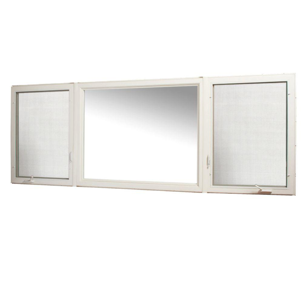 131 in. x 48 in. Vinyl Casement Window with Screen -