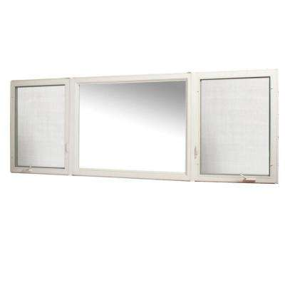 131 in. x 48 in. Vinyl Casement Window with Screen - White