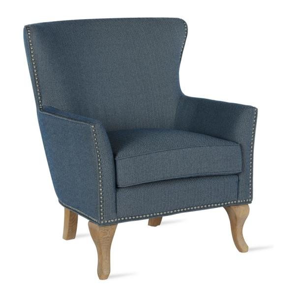 Dorel Living Dotty Solid Blue Upholstered Accent Chair FH7903S-BL