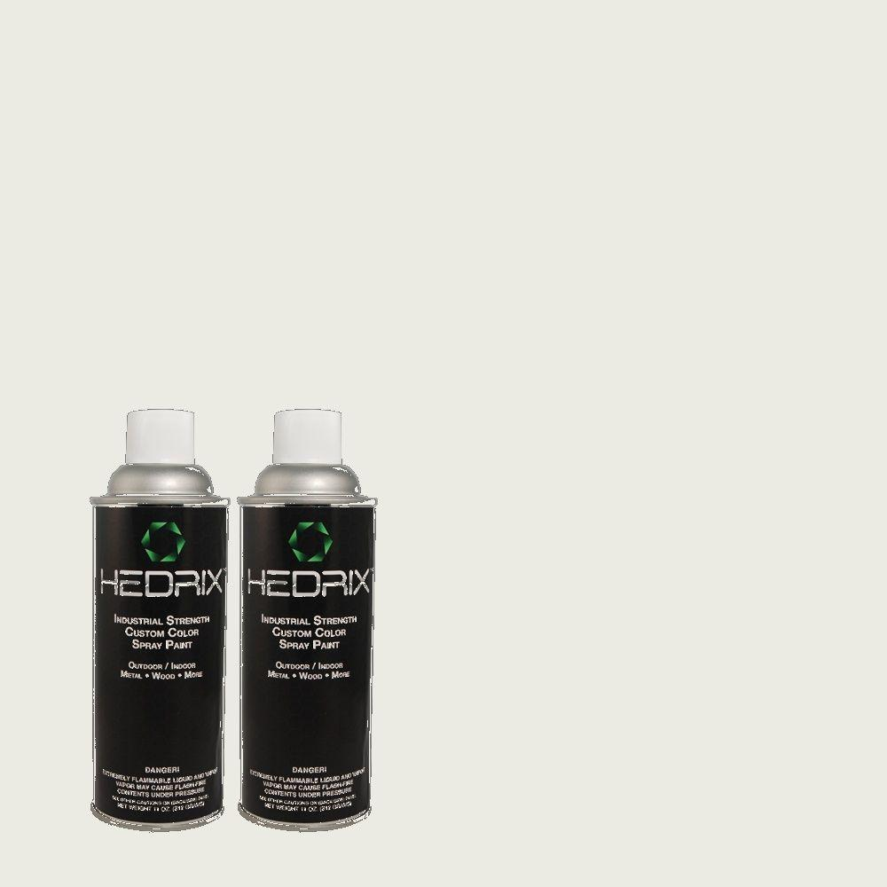 Hedrix 11 oz. Match of C40-82 Snowstone Flat Custom Spray Paint (2-Pack)