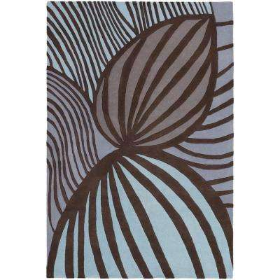 Inhabit Brown/Blue 7 ft. 9 in. x 10 ft. 6 in. Indoor Area Rug