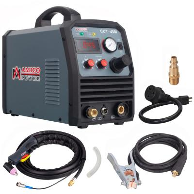 AMICO POWER 45 Amp 95-Volt to 260-Volt Wide Voltage Plasma Cutter w/ 3/5 in. Clean Cut, Power Cords Can Extend to 700 ft.
