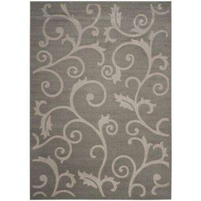 Cottage Gray/Light Gray 8 ft. x 11 ft. Indoor/Outdoor Area Rug