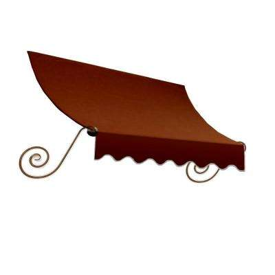 7.38 ft. Wide Charleston Window/Entry Awning (24 in. H x 12 in. D) Terra Cotta