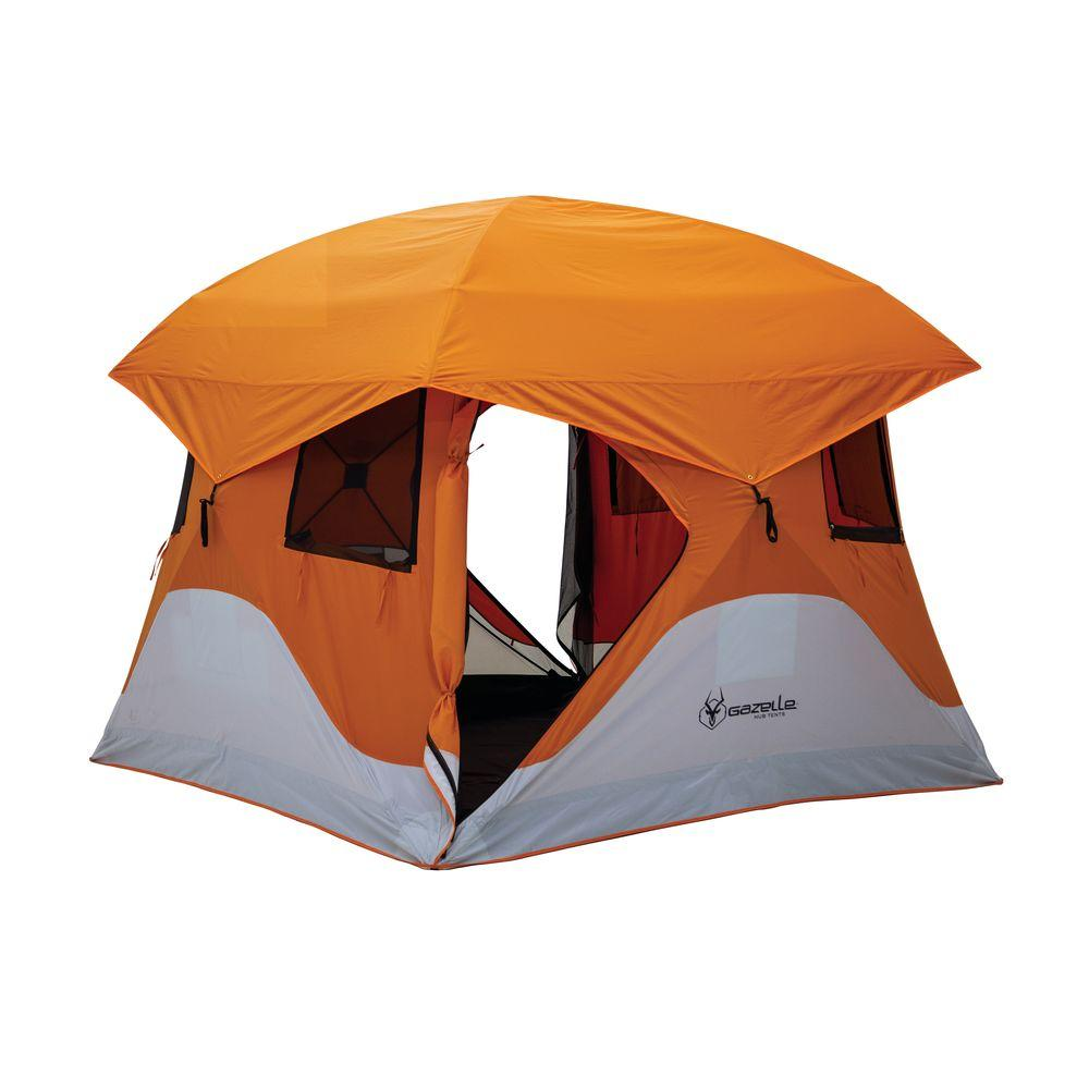 Gazelle 4-Person C&ing Hub Tent  sc 1 st  The Home Depot & Gazelle 4-Person Camping Hub Tent-22272 - The Home Depot