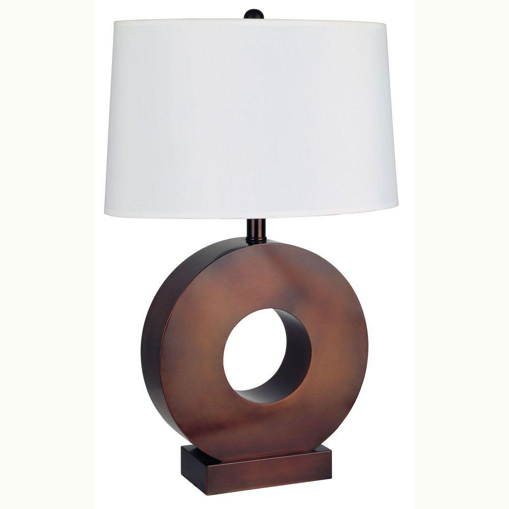 Ore international 29 in o shape metal bronze table lamp for O shaped table lamp