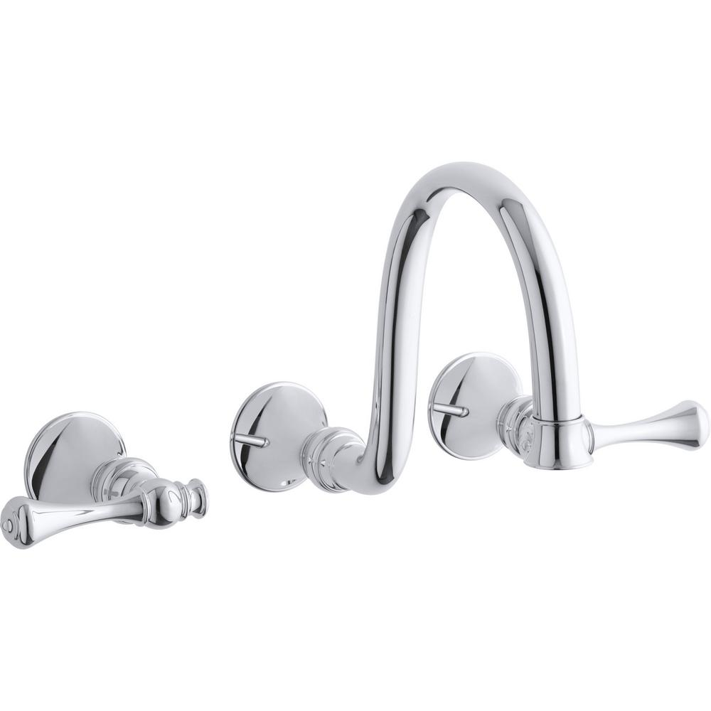 California faucet TO-34-W-PC Wall Or Deck Handle Trim Only Chrome