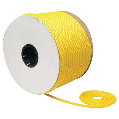 1/4 in. x 600 ft. Twisted Braid Polypropylene, Yellow