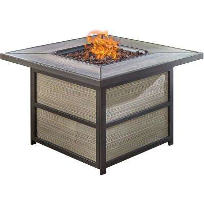 Chateau Aluminum Outdoor Coffee Table with Gas Fire Pit