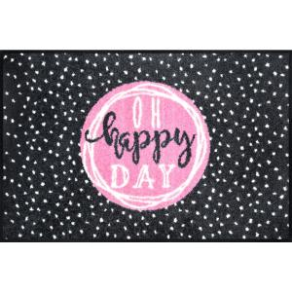 Whimsy Oh Happy Day 20 in. x 30 in. Nylon Doormat