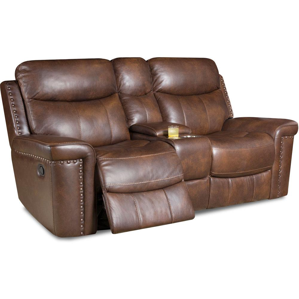 DriftWood Aspen Leather Double Reclining Loveseat