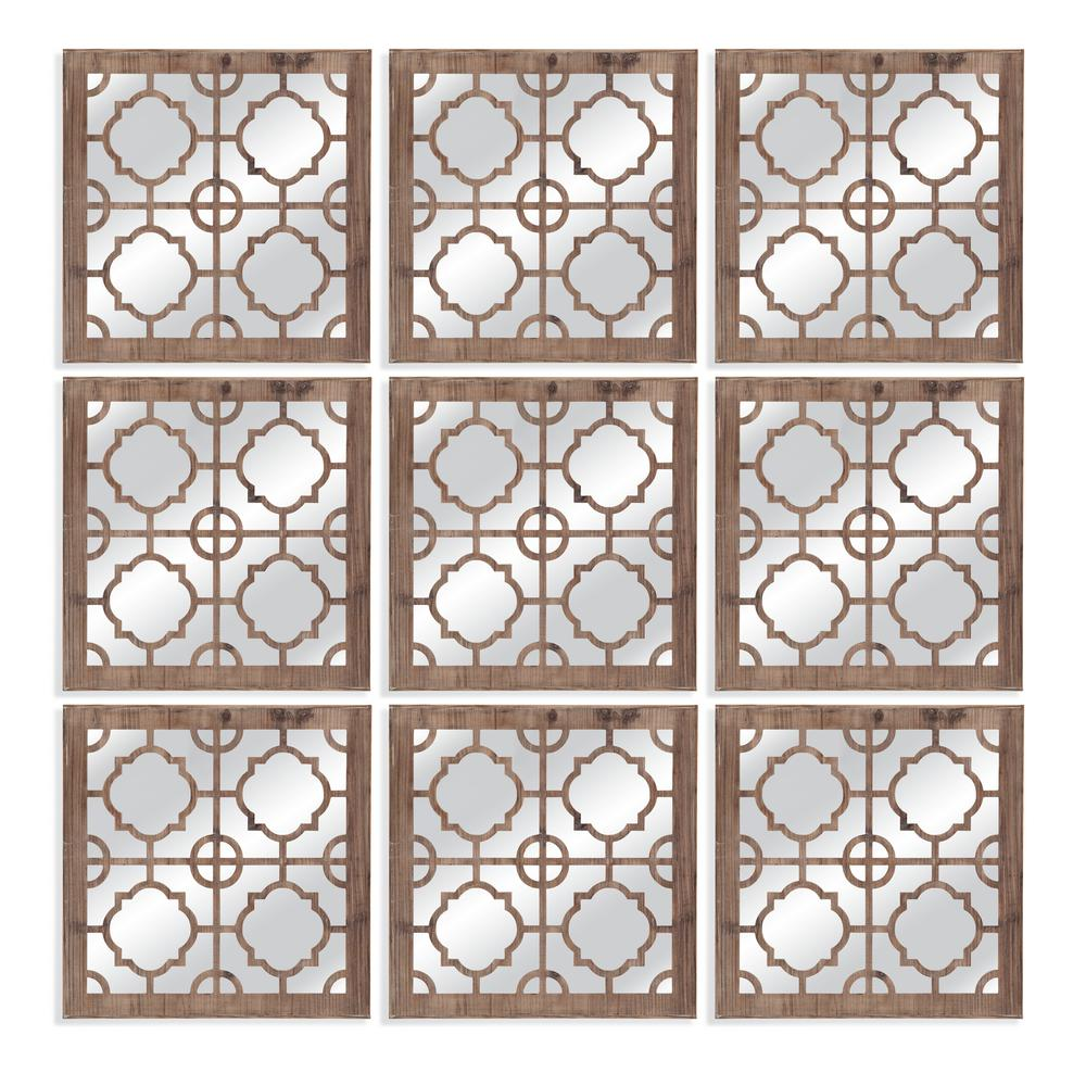 BASSETT MIRROR COMPANY Conan Decorative Wall Mirror Intricate weathered wood fretwork. The Conan wall mirror goes well in any space in need of natural decor. The can become a piece of art by adding multiple mirrors to create a new look.