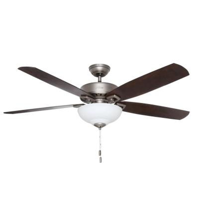Groveland 60 in. Indoor Antique Pewter Ceiling Fan with Light