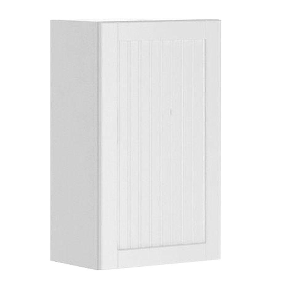 Ready to Assemble 18x30x12.5 in. Odessa Wall Cabinet in White Melamine