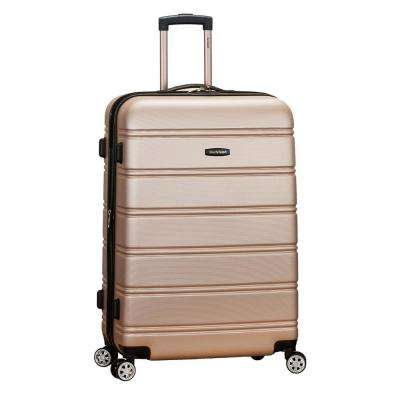 Melbourne 28 in. Champagne Expantable Hardside Dual Wheel Spinner Luggage