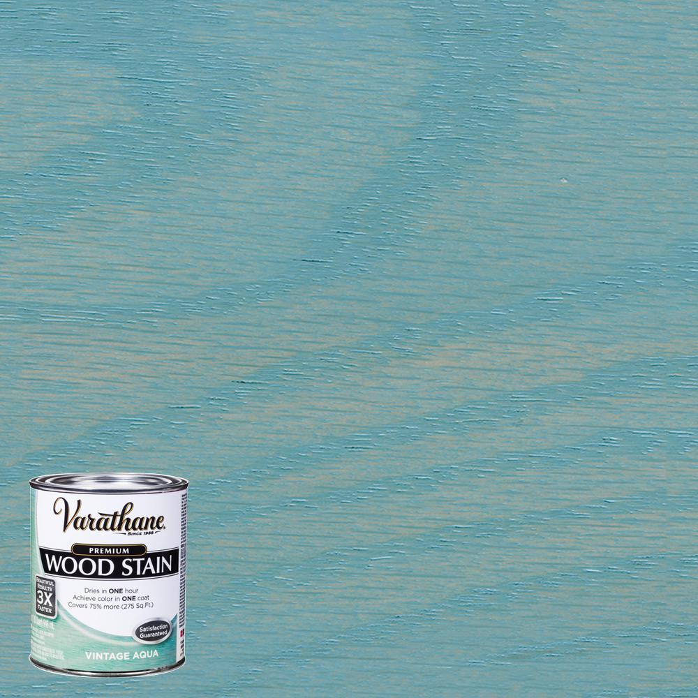 1 qt. Vintage Aqua Premium Fast Dry Interior Wood Stain