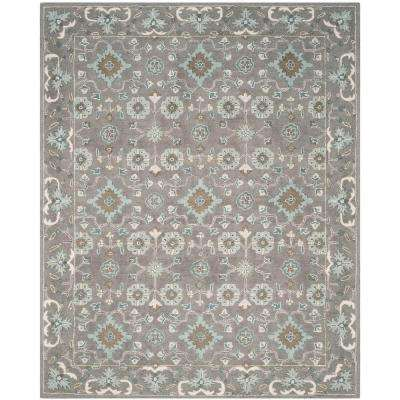 Blossom Grey 8 ft. x 10 ft. Area Rug