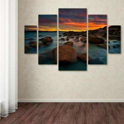 """40 in. x 58 in. """"Granite Quarry"""" by Lincoln Harrison Printed Canvas Wall Art"""