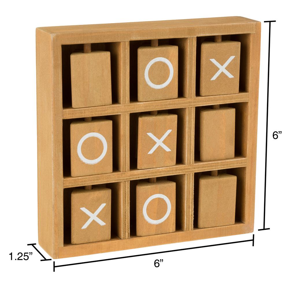 hey! play! tic-tac-toe wooden travel game m350046 - the home
