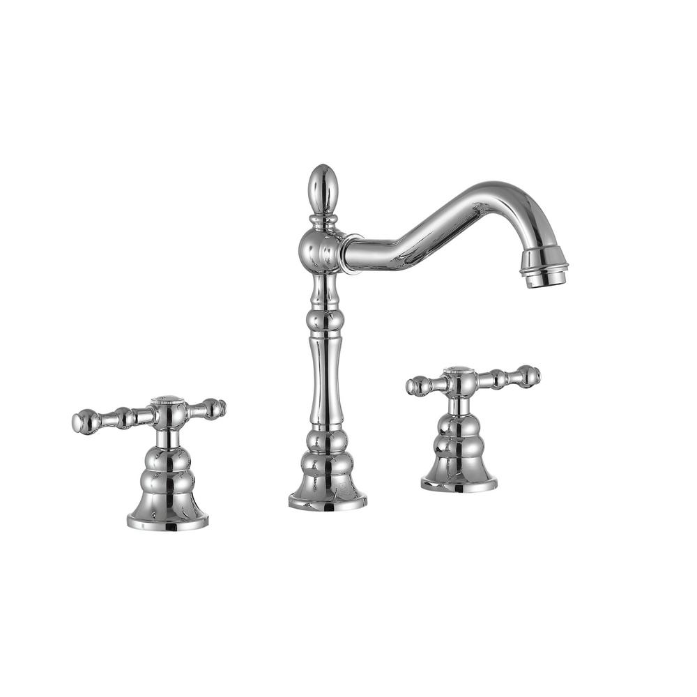 Highland 8 in. Widespread 2-Handle Bathroom Faucet in Polished Chrome