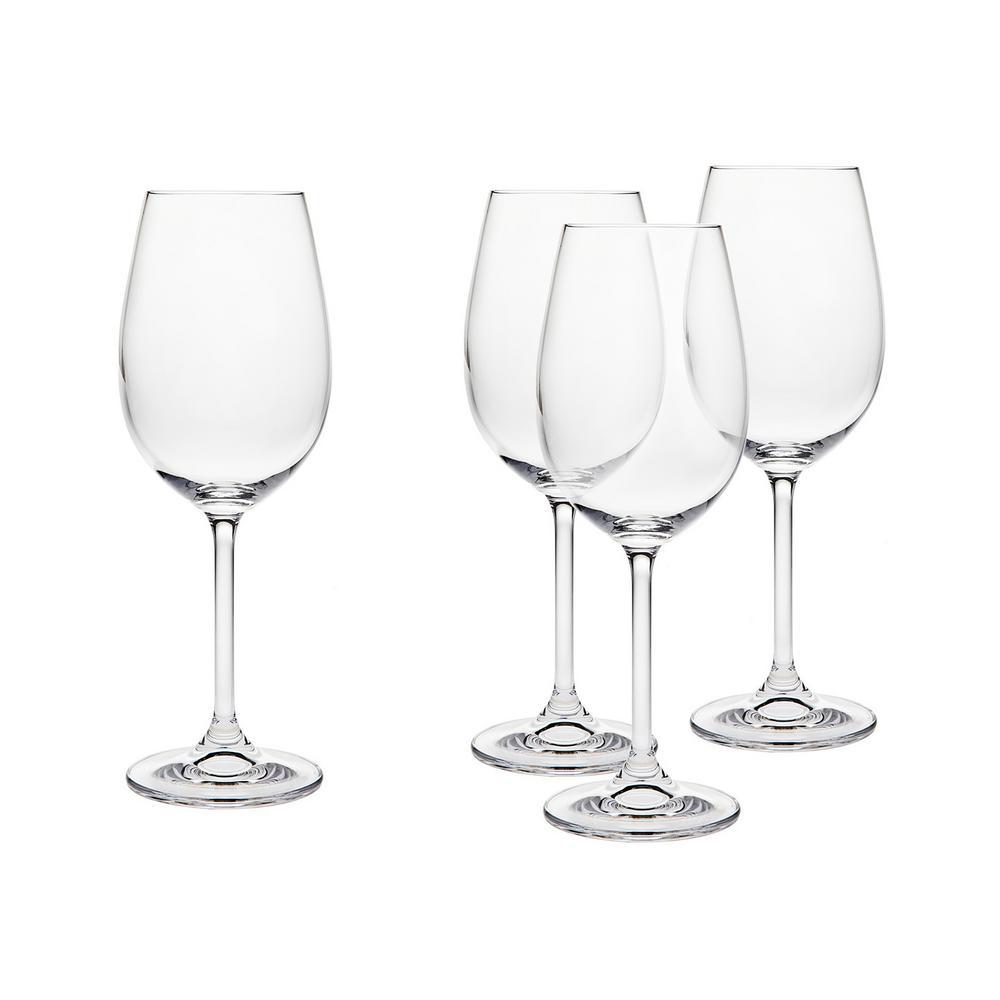 Meridian 12 oz. White Wine Glasss Goblet (Set of 4)