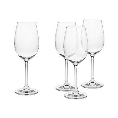 Meridian 12 oz. White Wine Glasss Goblet (Set of 4)